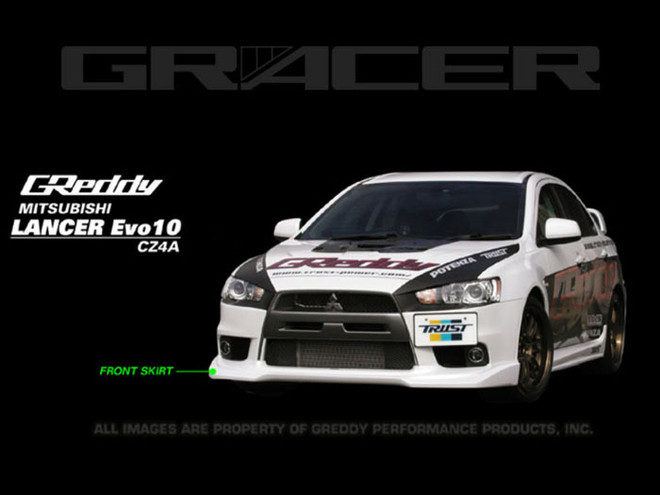 GReddy Front Lip Spoiler for Mitsubishi Evo X