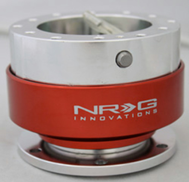 NRG Gen 1.0 Quick Release- Silver Body/ Red Ring