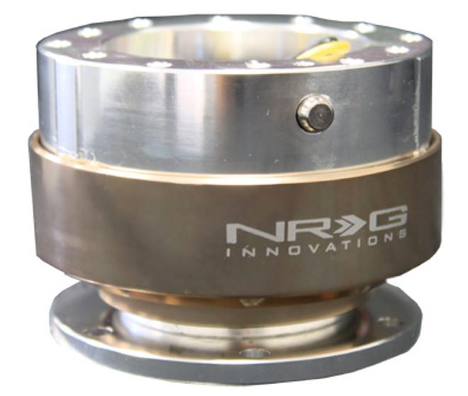 NRG Gen 1.0 Quick Release- Silver Body/ Titanium Ring