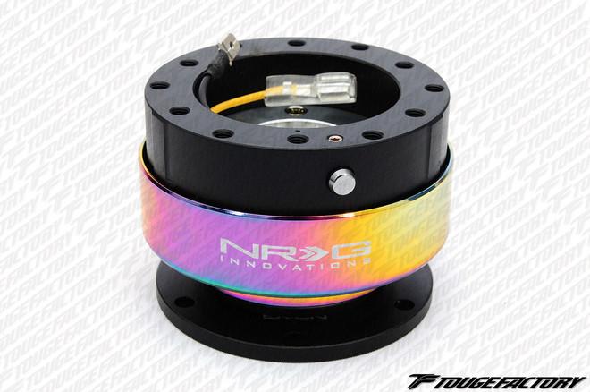 NRG Quick Release Gen 2.0 (Black Body w/ Neochrome Ring)