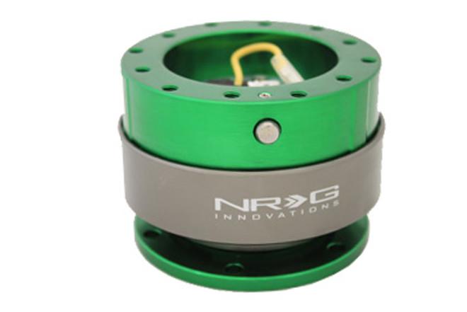 NRG Quick Release Gen 2.0 - Green Body w/ Titanium Chrome Ring