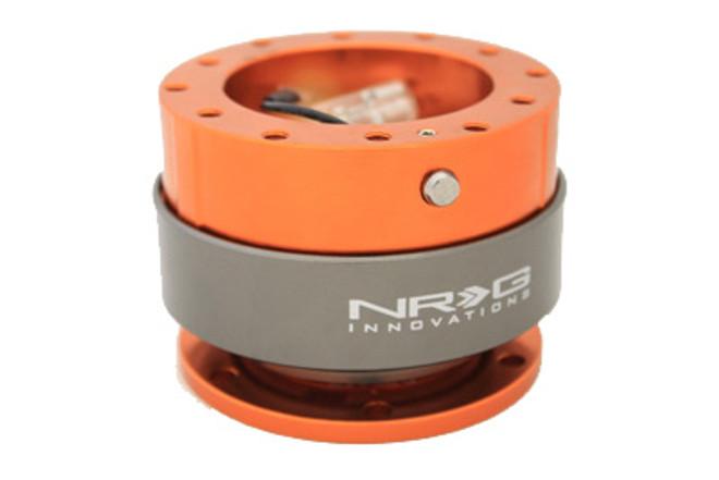 NRG Quick Release Gen 2.0 - Orange body w/ Titanium Chrome Ring