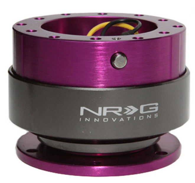 NRG Quick Release Gen 2.0 - Purple Body w/ Titanium Chrome Ring