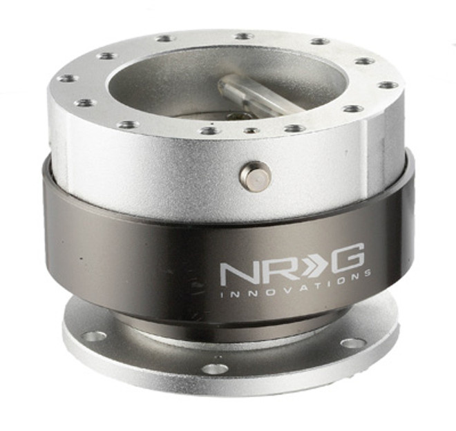 NRG Quick Release Gen 2.0 - Silver Body w/ Titanium Chrome Ring