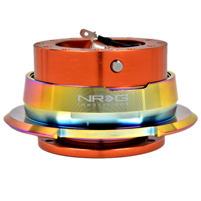 NRG Quick Release Kit Gen 2.8 (Orange Body w/ Diamond Cut Neochrome Ring)