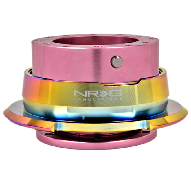NRG Quick Release Kit Gen 2.8 (Pink Body w/ Diamond Cut Neochrome Ring)