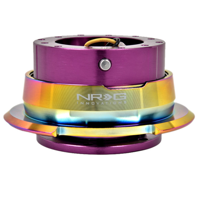 NRG Quick Release Kit Gen 2.8 (Purple Body w/ Diamond Cut Neochrome Ring)