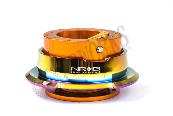 NRG Quick Release Kit Gen 2.8 (Rose Gold Body w/ Diamond Cut Neochrome Ring)