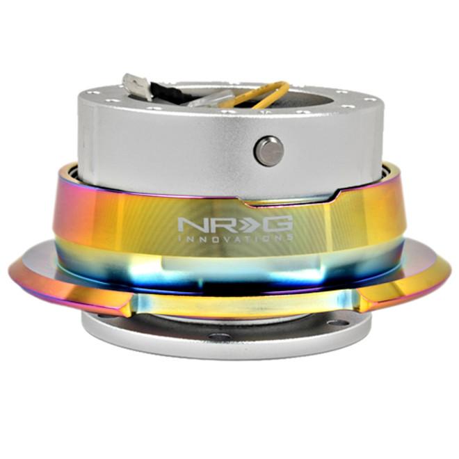 NRG Quick Release Kit Gen 2.8 (Silver Body w/ Diamond Cut Neochrome Ring)