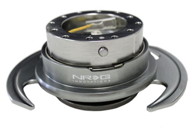 NRG Quick Release Kit Gen 3.0 - Gun Metal Body/Gun Metal Ring w/ Handles