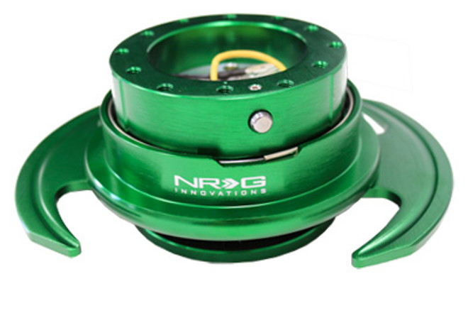 NRG Quick Release Kit Gen 3.0 - Green Body/Green Ring w/ Handles