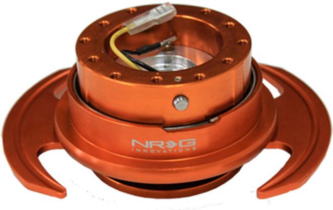 NRG Quick Release Kit Gen 3.0 - Orange Body/Orange Ring w/Handles
