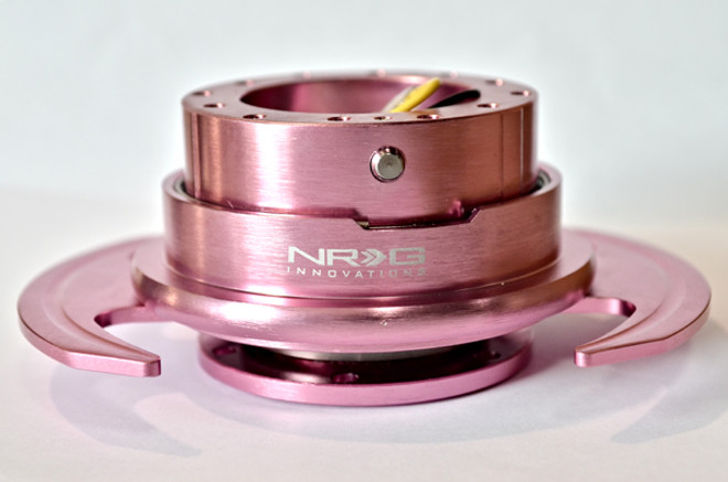 NRG Quick Release Kit Gen 3.0 - Pink Body/Pink Ring w/Handles