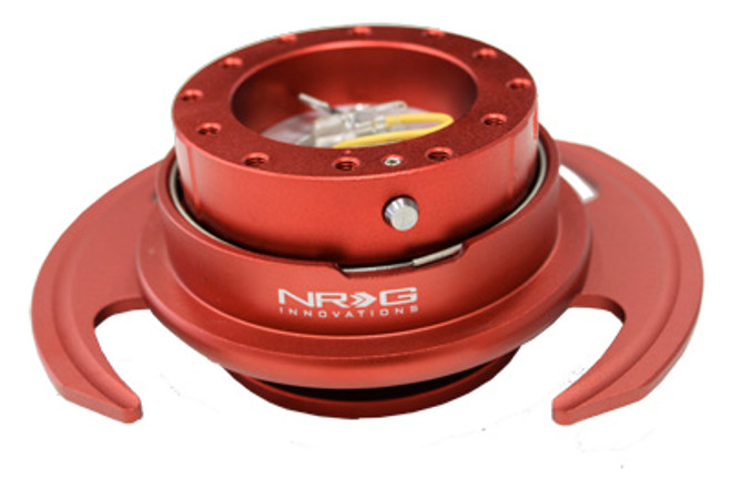 NRG Quick Release Kit Gen 3.0 - Red Metal Body/Red Ring w/ Handles