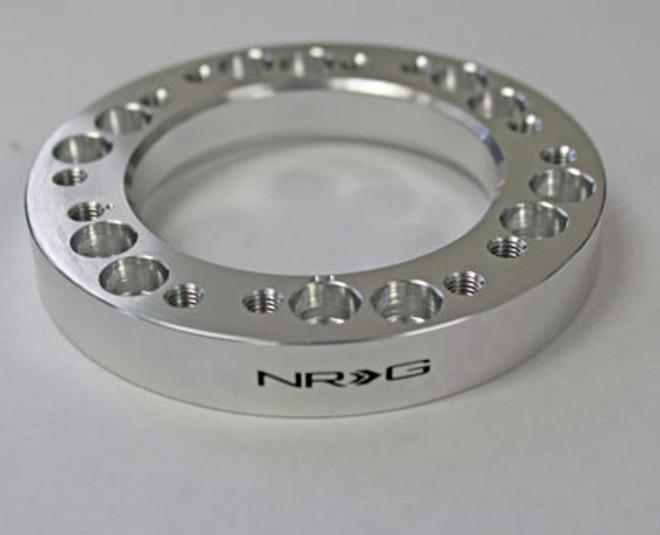 "NRG 1/2"" Steering Wheel Hub Spacer Adapter Nardi to Momo - Silver"