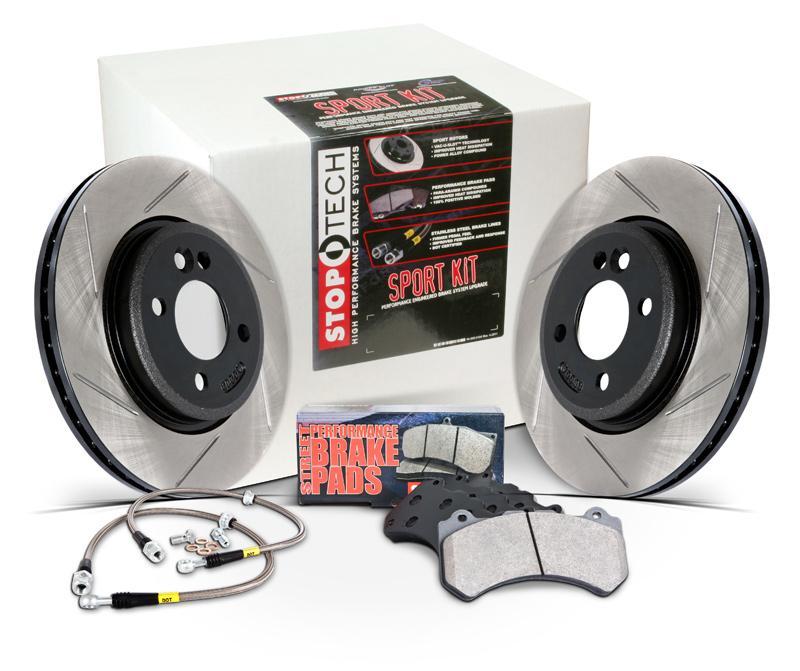 Stoptech Brake Kit >> Stoptech Slotted Sport Brake Kit Front Scion Frs Subaru Brz Rotors Pads Lines