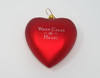 Front of - When Calls the Heart - Ornament - Red with white background.