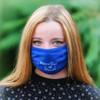 Model wearing mask - front profile