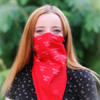 red bandana on face