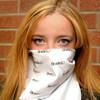 white bandana on face