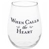 When Calls the Heart wine glass