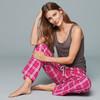 District ® Women's Flannel Plaid Pant modeled