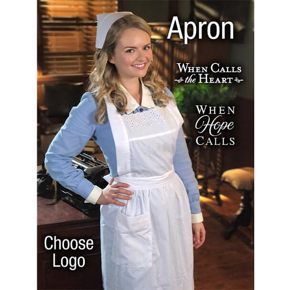Andrea Brooks wearing the apron