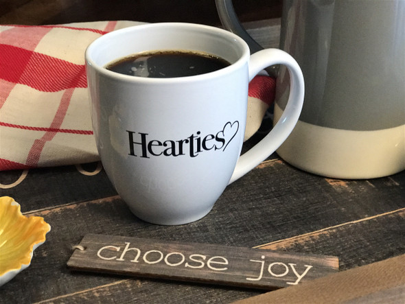 Hearties - Official Logo - Coffee Cup