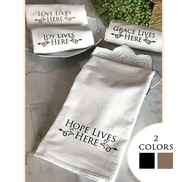 2Pack Tea Towel set Hope Collection with 2 color options
