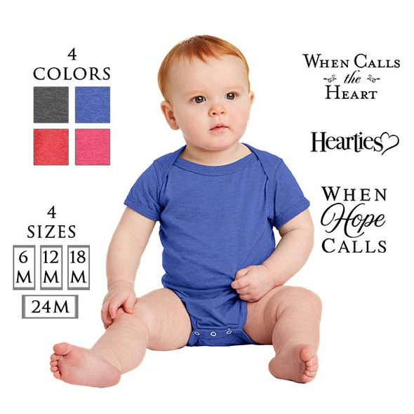 Infant Fine Jersey Bodysuit with 3 optional When Calls the Heart Logos