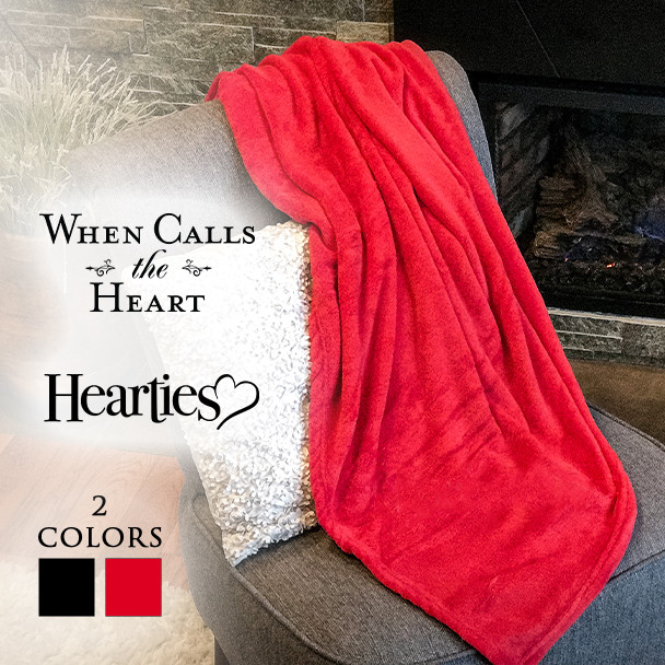 Blanket with 2 color choices and 2 logo choices