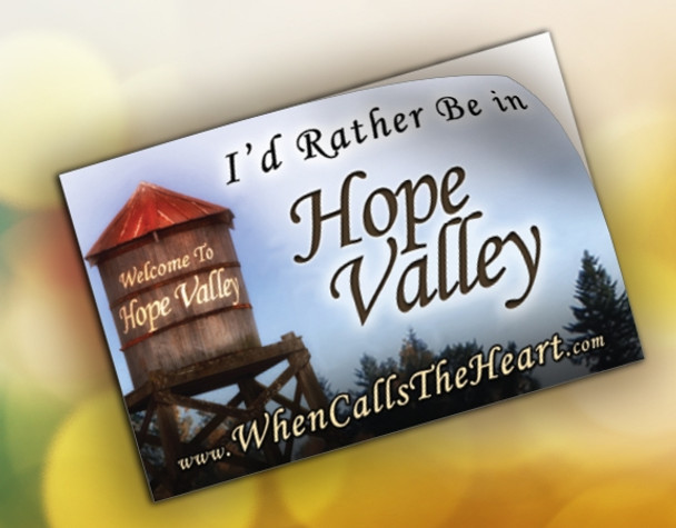 I'd Rather Be in Hope Valley - Window Cling