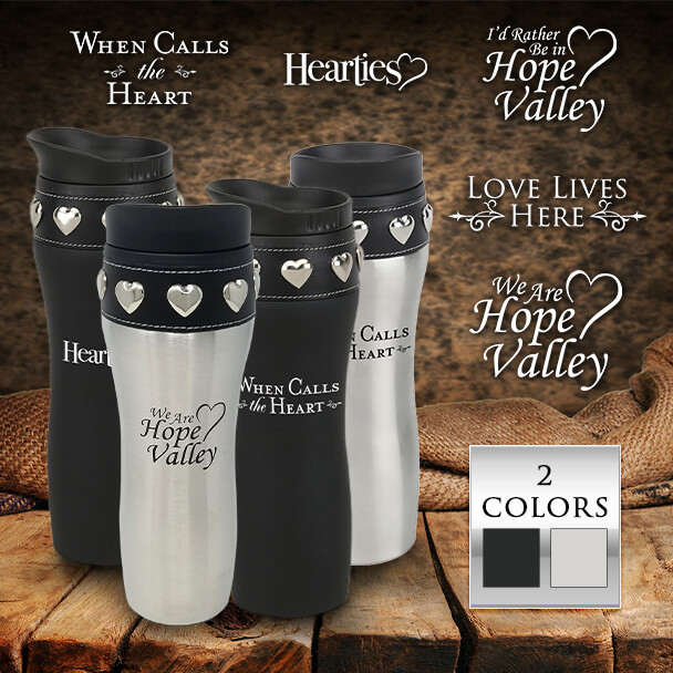 Coffee Tumblers with choices of 2 colors and multiple logos