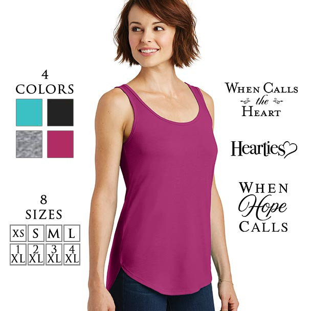 District® Women's Drapey Tank shirt with 3 logo choices