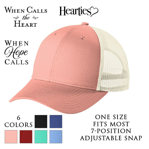 Low-Profile Snapback Trucker Cap with three optional When Calls the Heart Logos