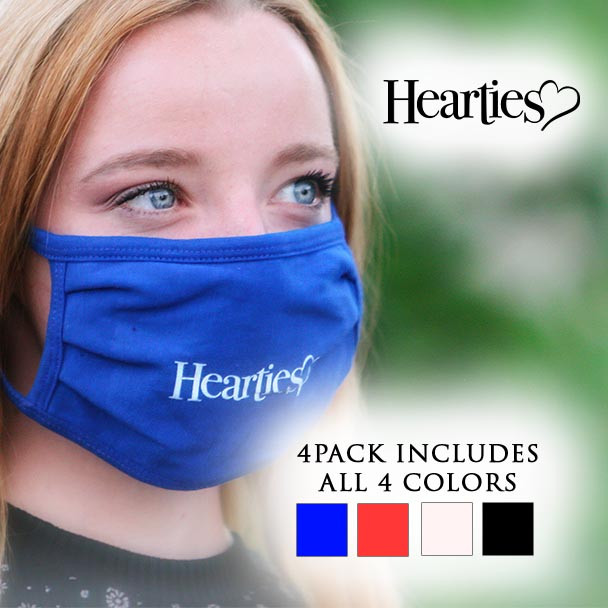 Official Hearties logo mask