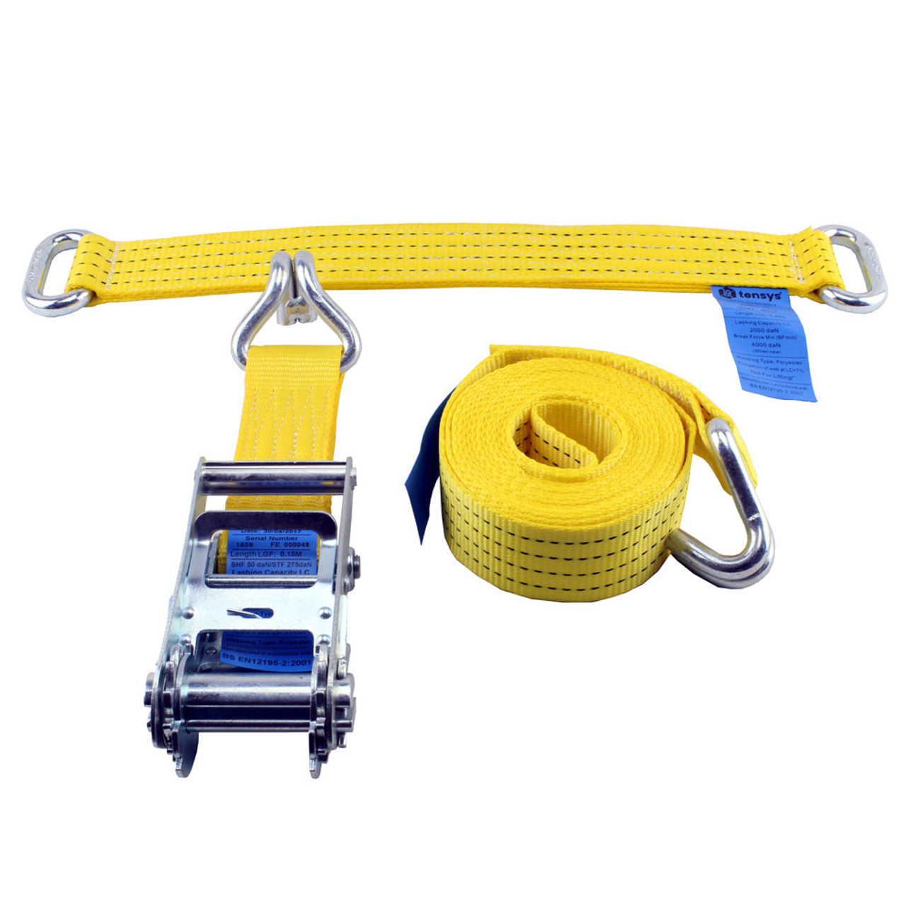 KIT OF 4 TRANSPORTER LASHINGS WITH STEEL EYE DIVERTERS AND FREE DELIVERY