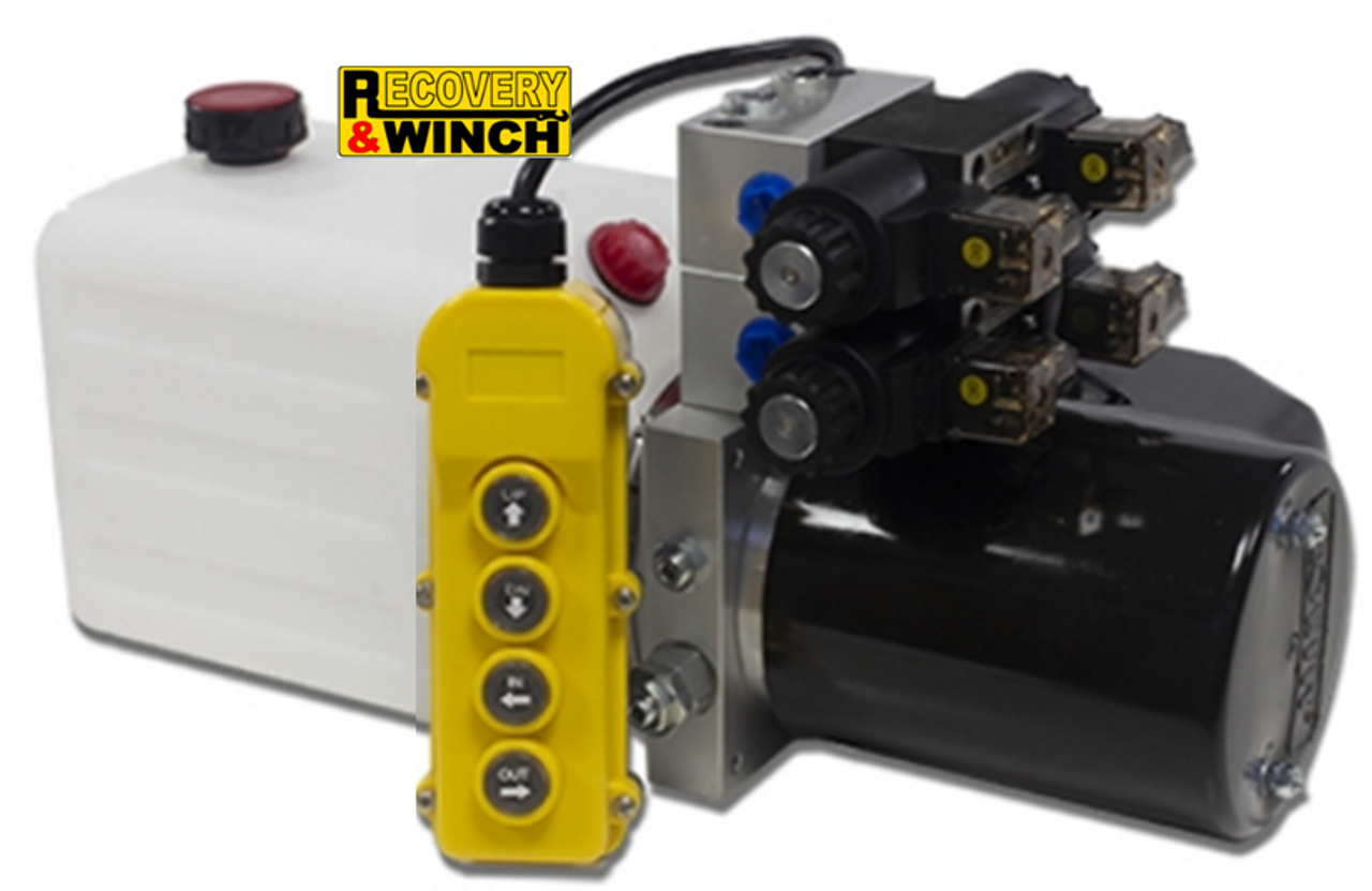 12V DOUBLE ACTING TWIN CETOP HYDRAULIC POWERPACK