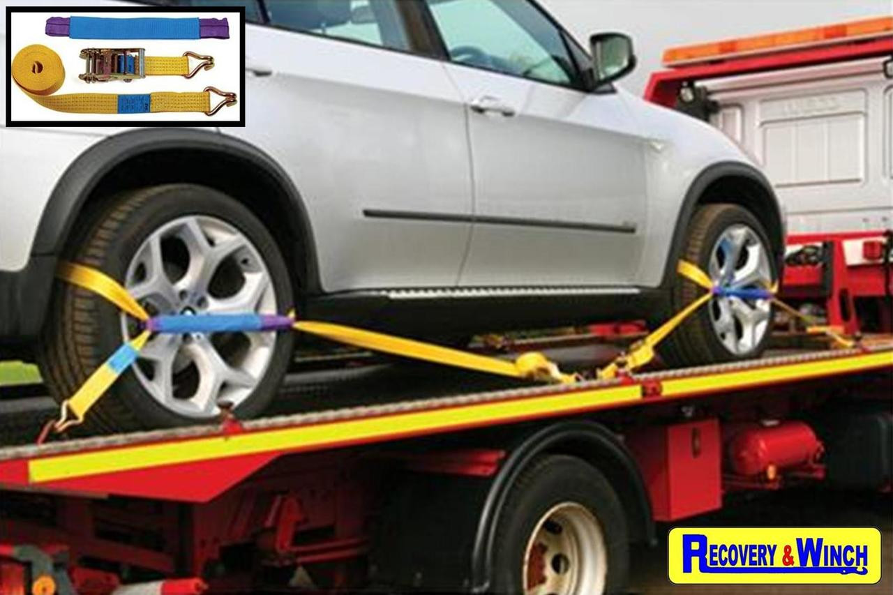 4 X TRANSPORTER LASHINGS  WITH SOFT EYE DIVERTERS INC. FREE DELIVERY