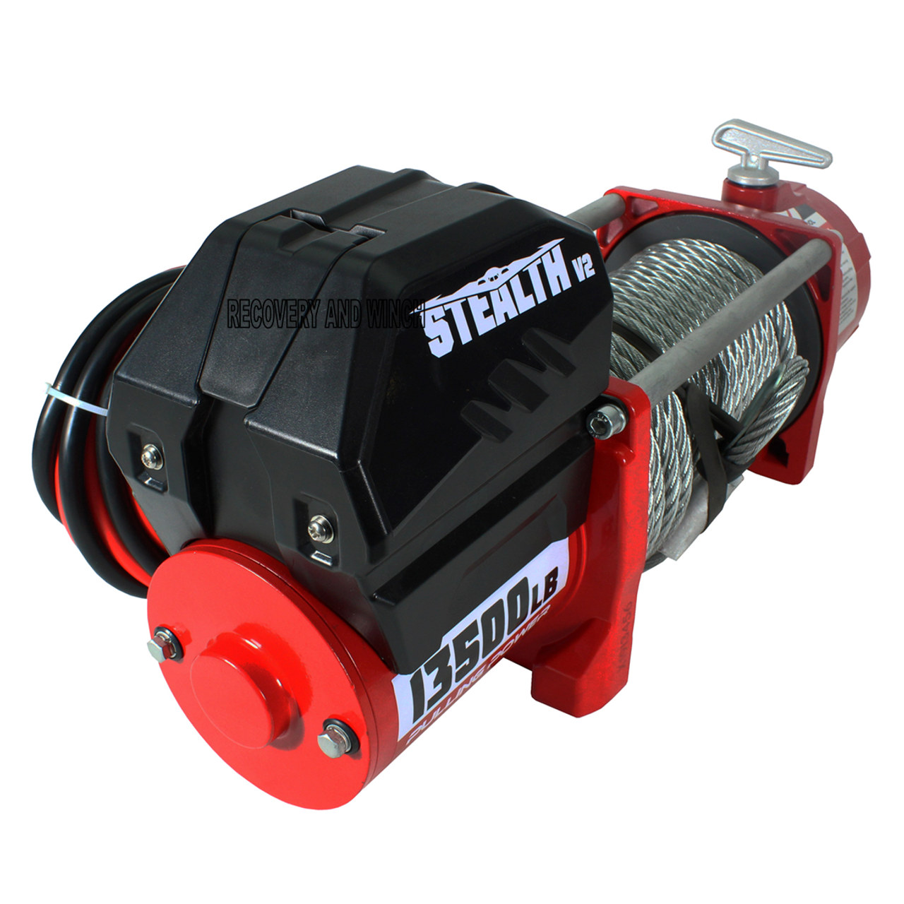 STEALTH  13500LB 12V WINCH WITH STEEL ROPE AND WIRELESS REMOTE