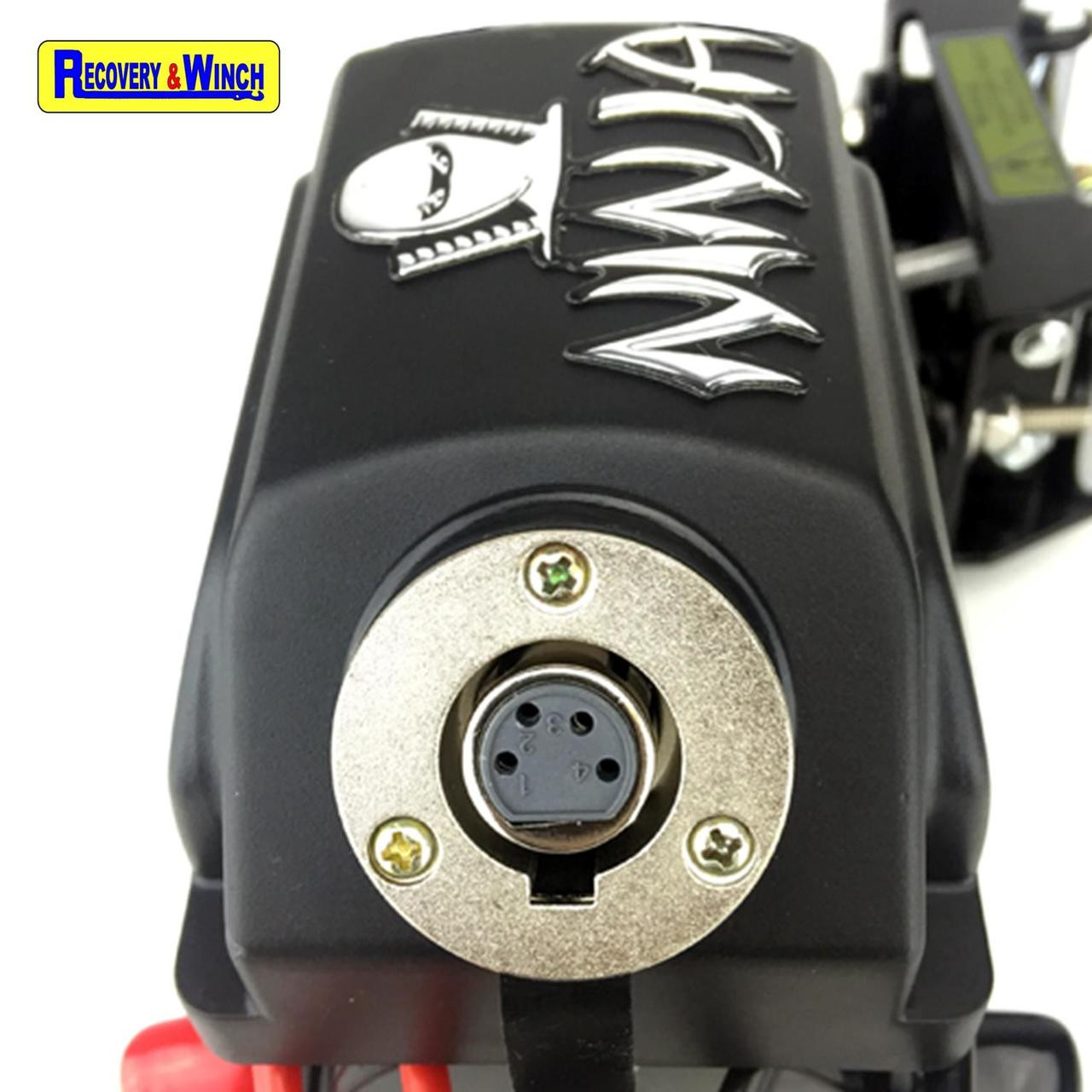 WARRIOR NINJA 3500LB 12V ELECTRIC WINCH  with STEEL CABLE