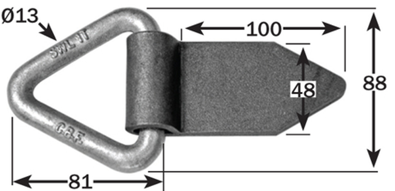 WELD DOWN LASHING RING WITH STEEL TAIL