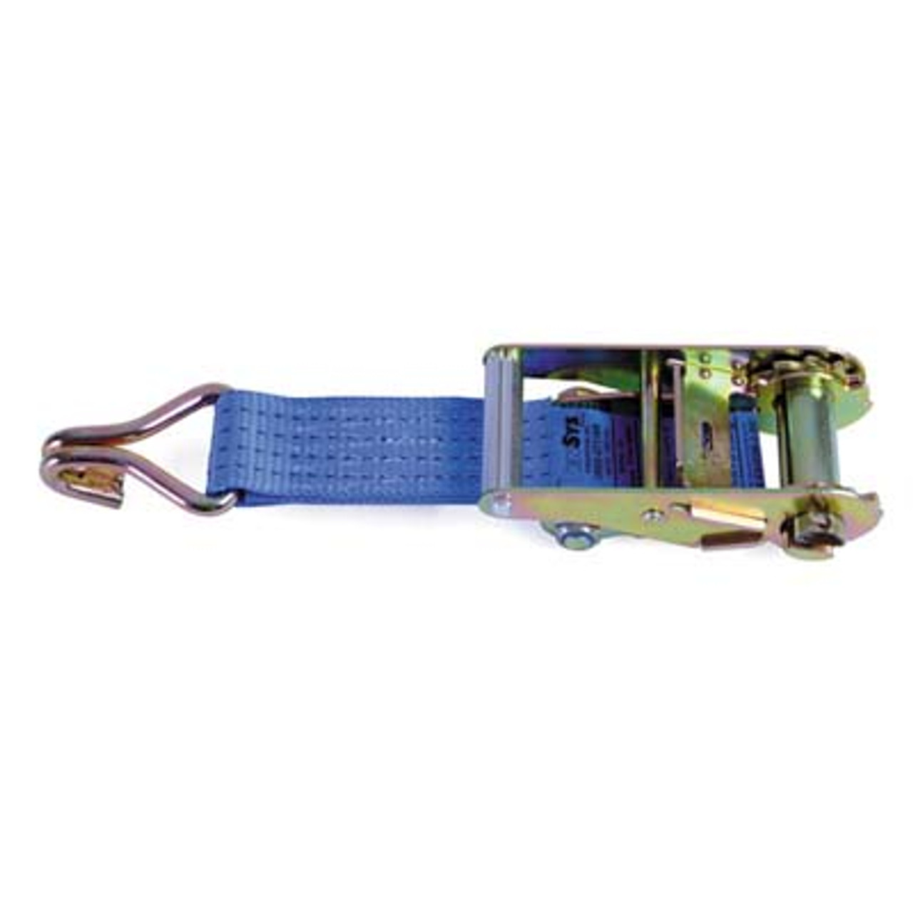 SHORT HANDLE RATCHET WITH 150MM STRAP AND CLAW HOOK