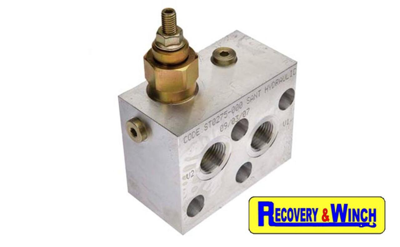 Warrior RV1000  hydraulic winch balance valve included.