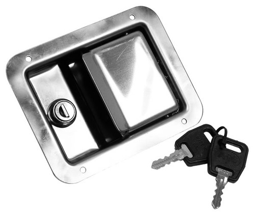 Stainless Steel Paddle Lock flush fit