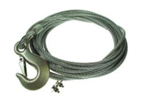 8 metre wire rope with safety hook for MP1432 hand winch