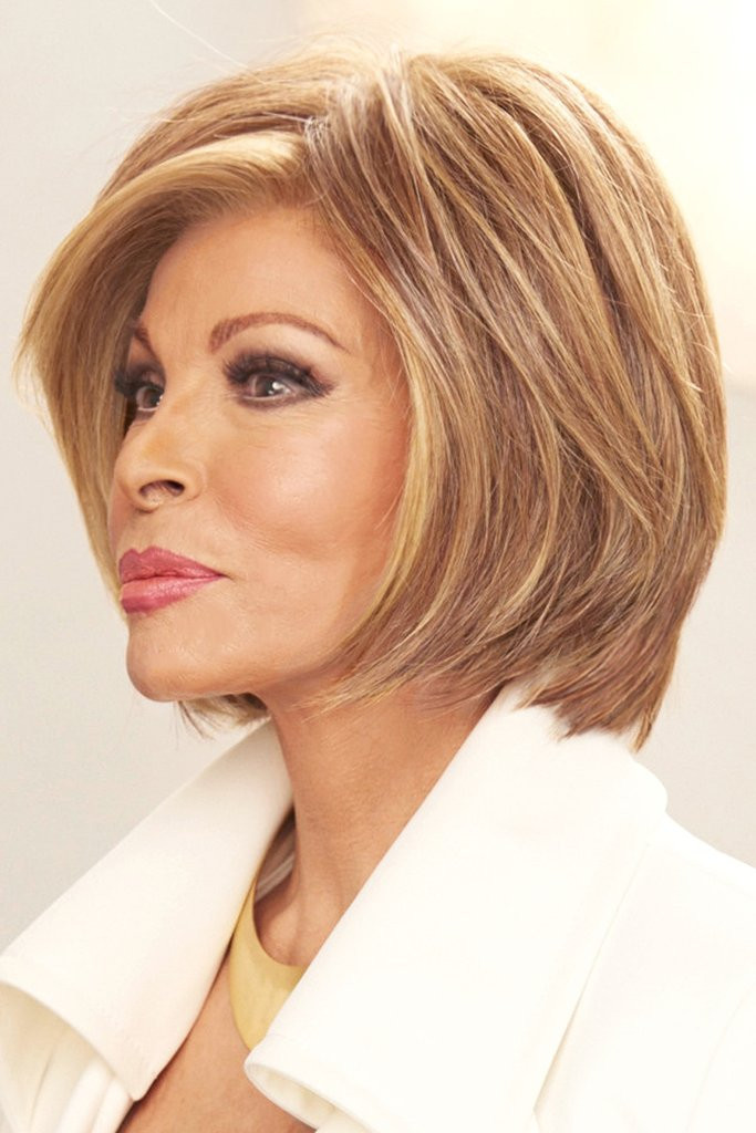 Straight Up with a Twist Raquel Welch Wigs Left Side View