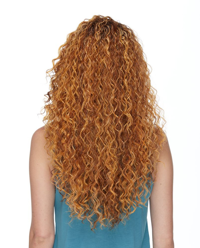 Delaney Sepia Wigs Back View