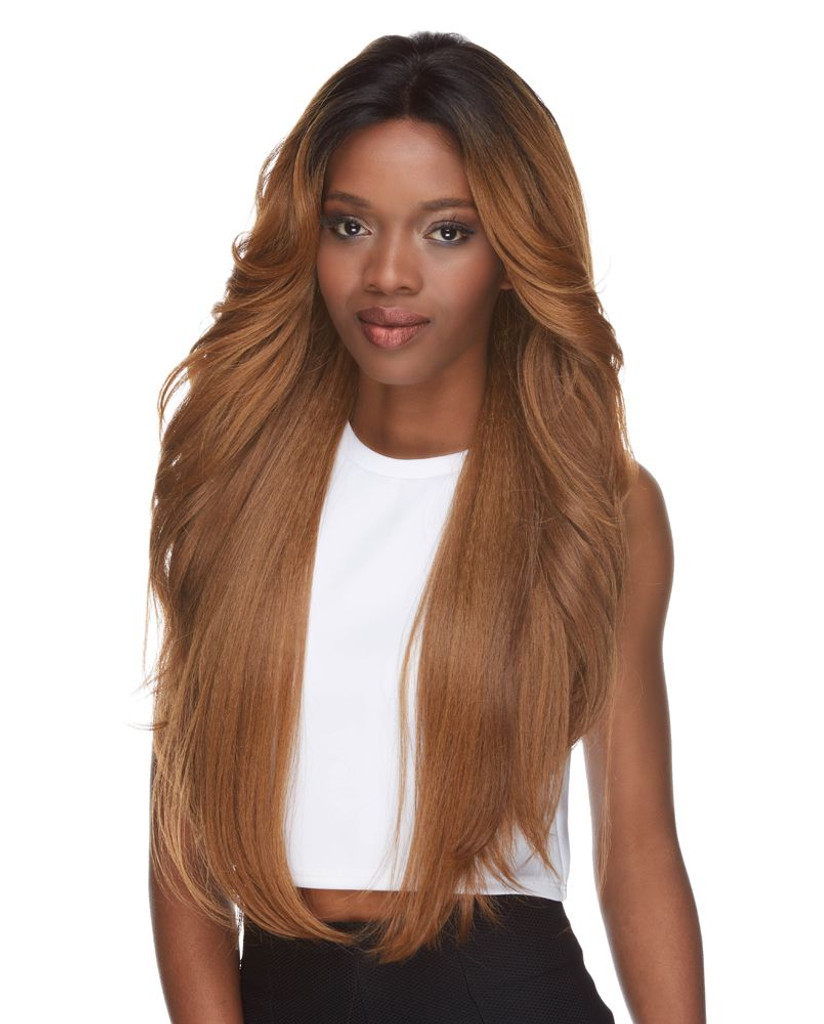 Cameron | Sepia | Lace Front  4 X 4 Parting front view