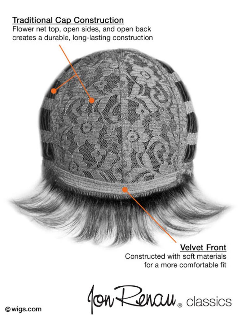 Jon Renau Jessica synthetic classic cap wig cap view